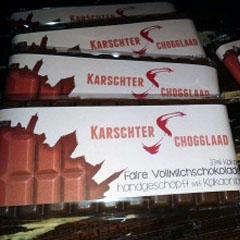 Karschter Schogglaad gibt es beim Weltladen Karlstadt